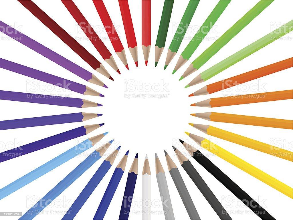 Color pencils 3 royalty-free stock vector art