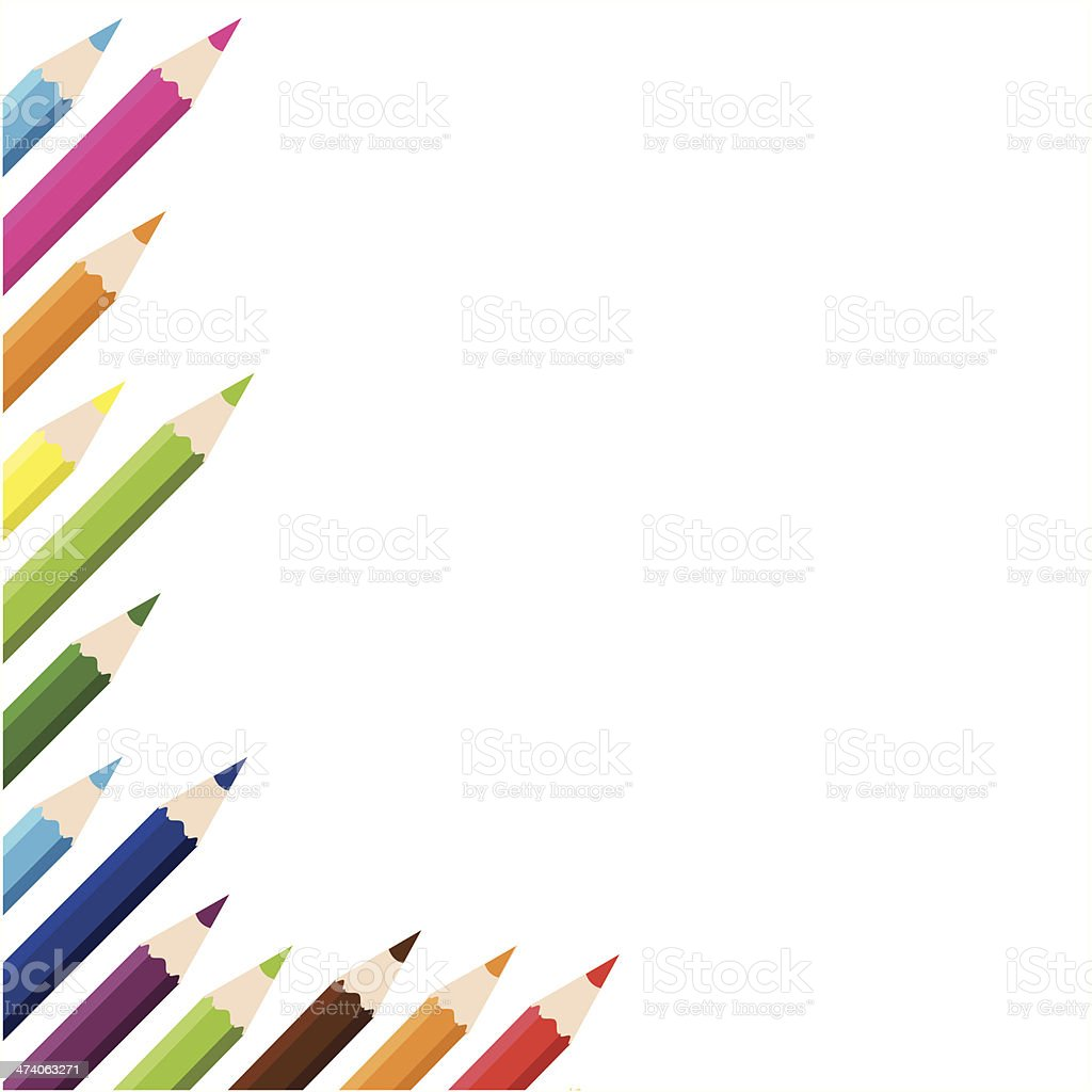 color pencils background royalty-free stock vector art