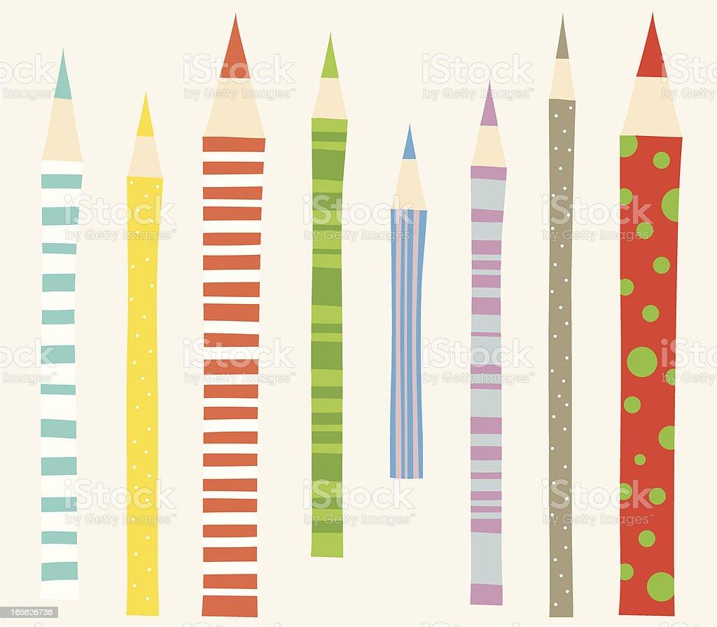 Color Pencils royalty-free stock vector art