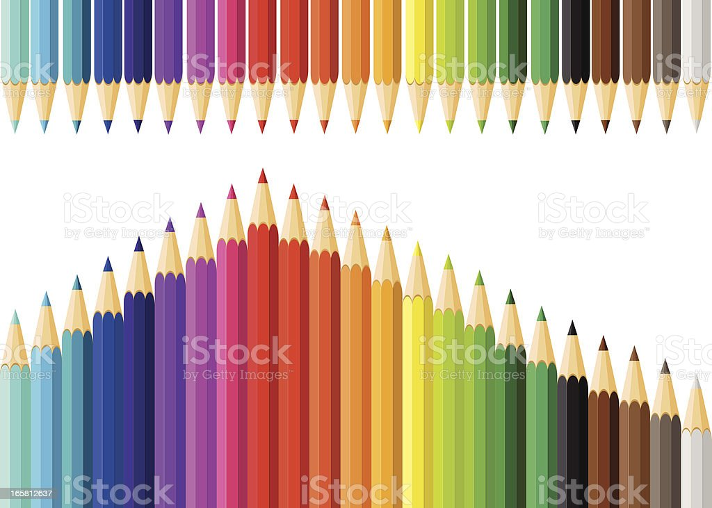 Color Pencils vector art illustration