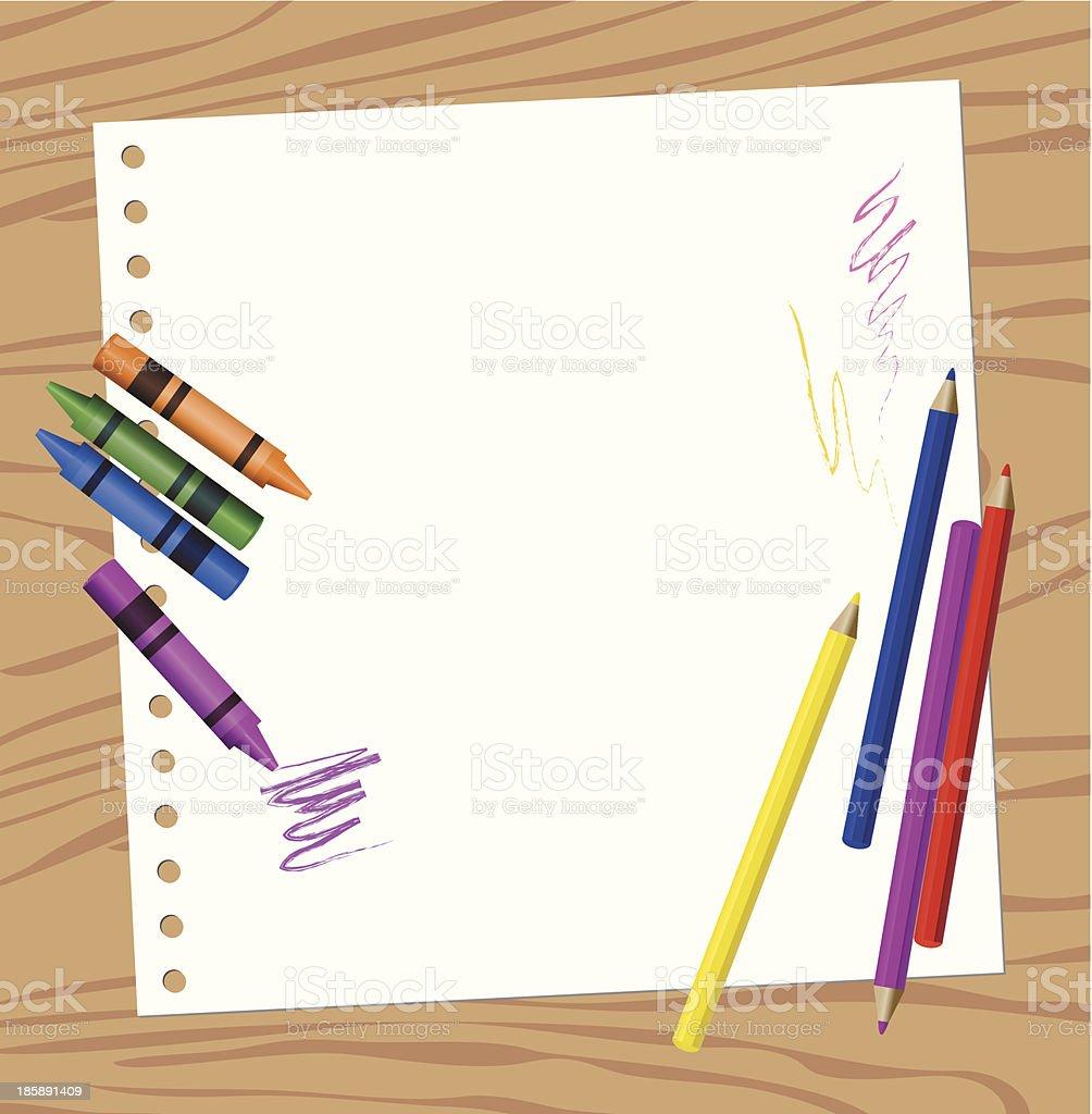 Color Pencils vector art illustration