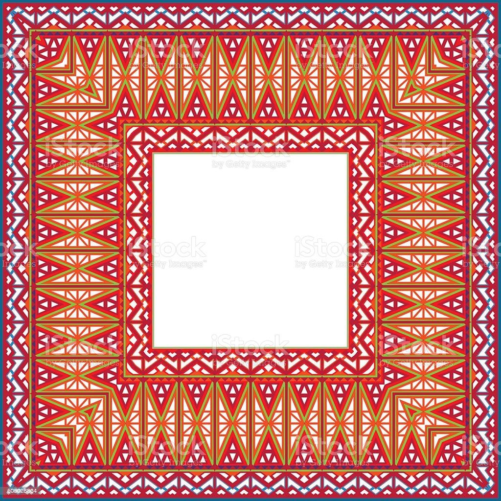 Color Picture Frame. Color pattern. Vector illustration. vector art illustration