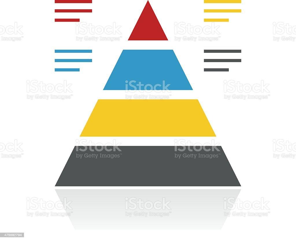 Color Pyramid icon vector art illustration