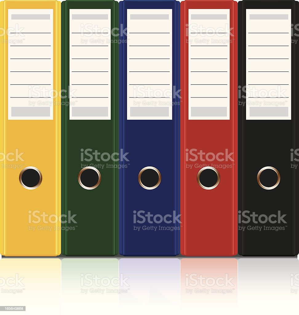 Color Ring Binders royalty-free stock vector art