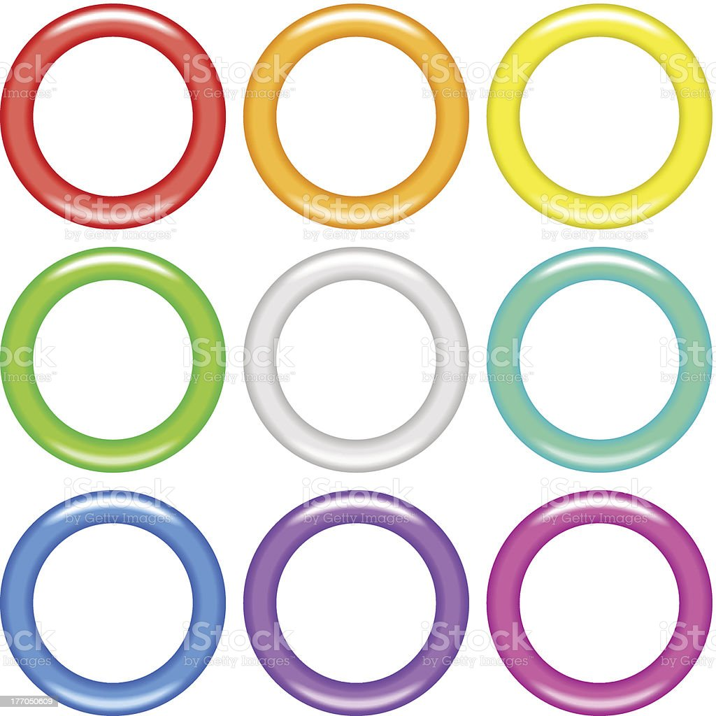 Color rings, set royalty-free stock vector art