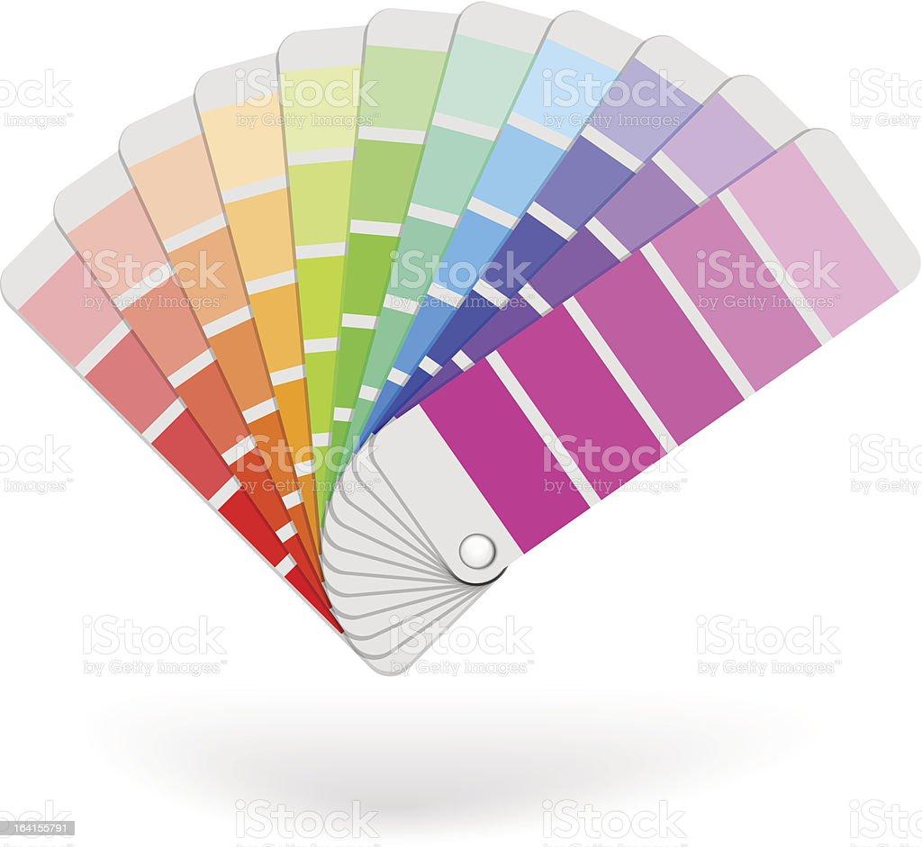 Color sample catalogue vector art illustration