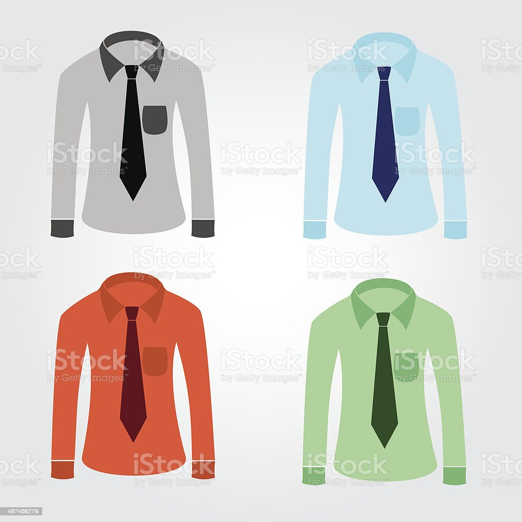 color shirts with tie eps10 royalty-free stock vector art