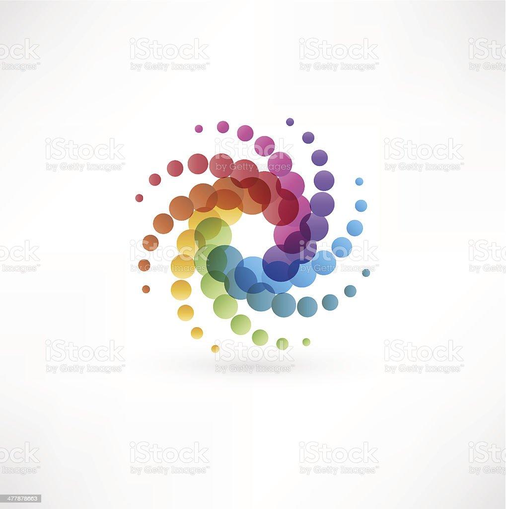 Color spectrum wheel vector art illustration