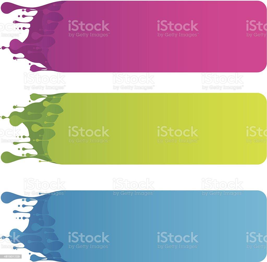 Color Splashed Banners vector art illustration