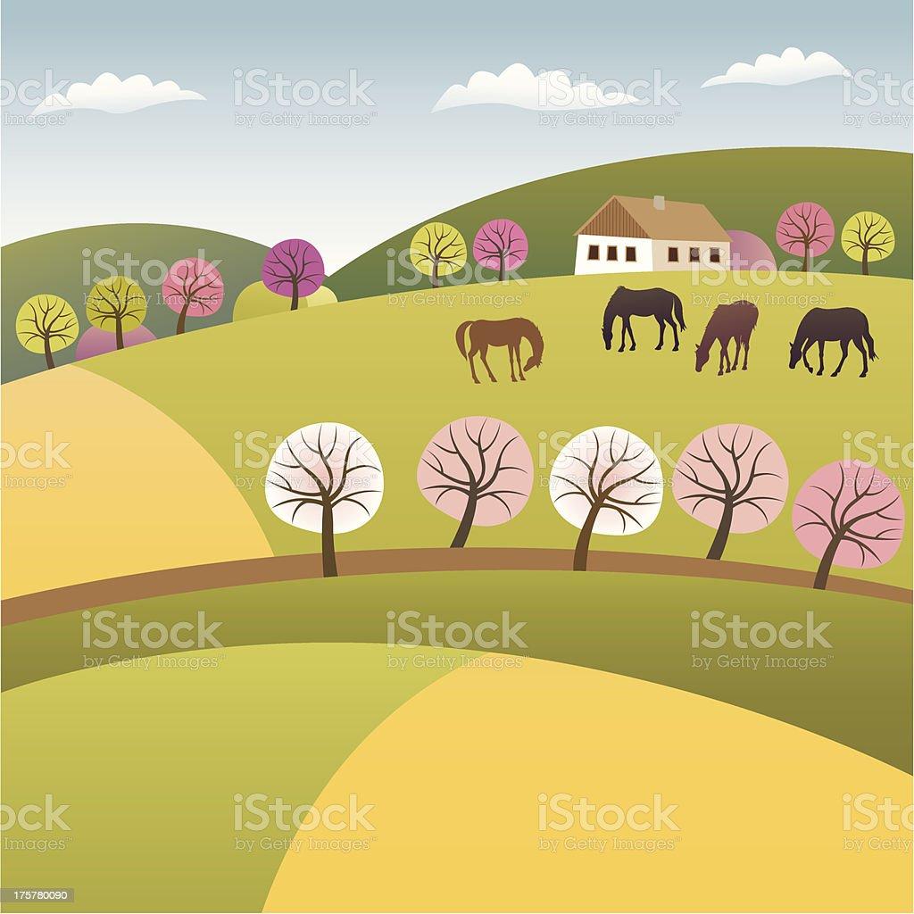 Color spring vector art illustration