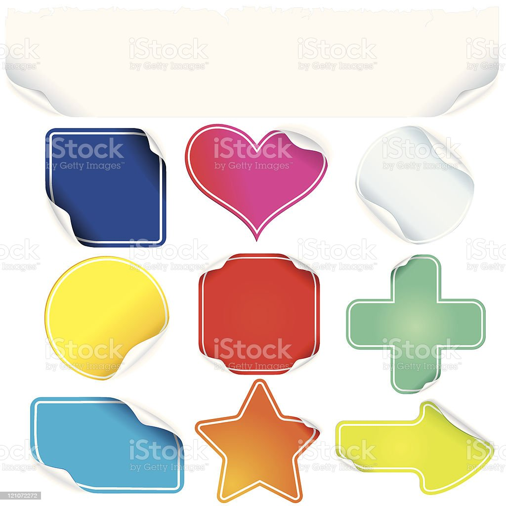 Color Stickers royalty-free stock vector art
