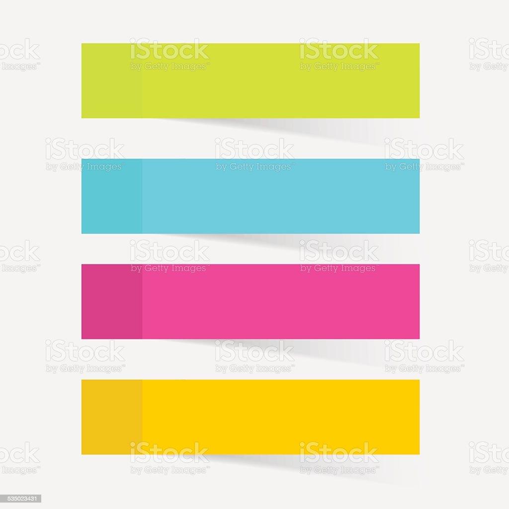 Color sticky notes set vector illustration vector art illustration
