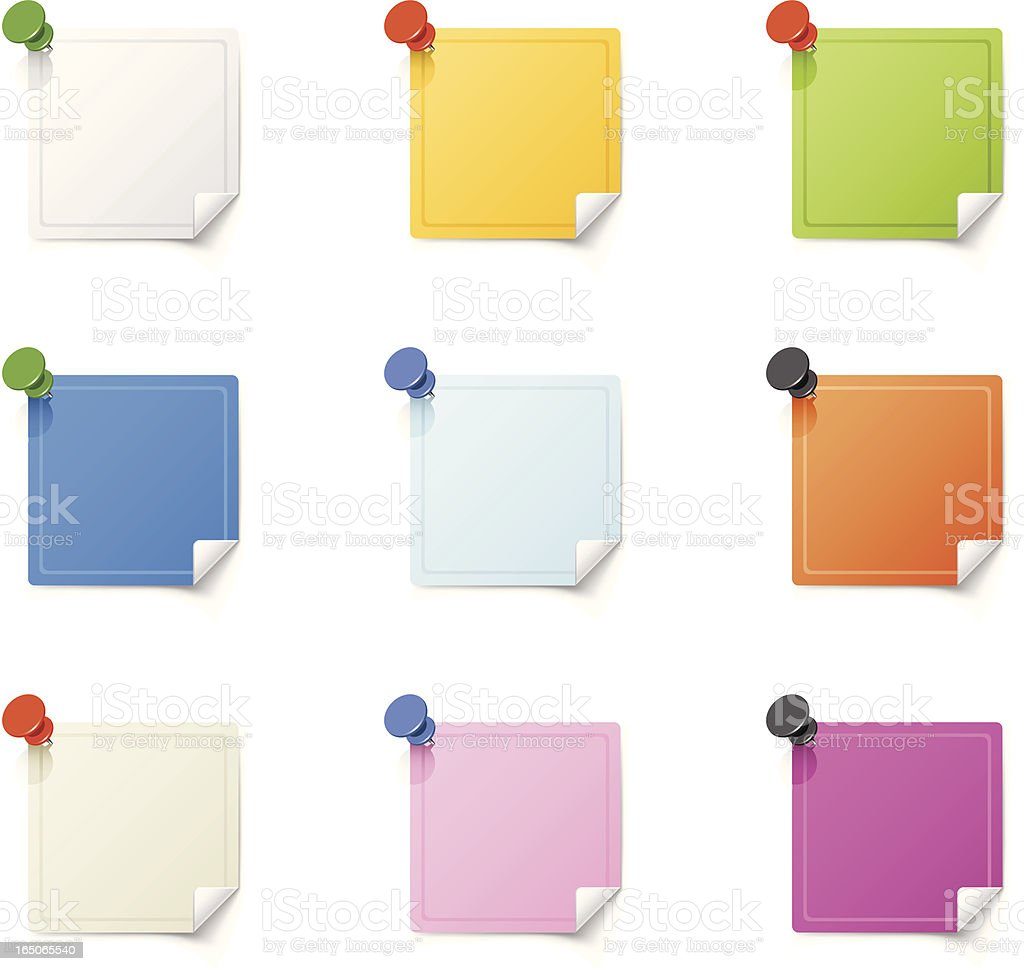 Color sticky notes royalty-free stock vector art