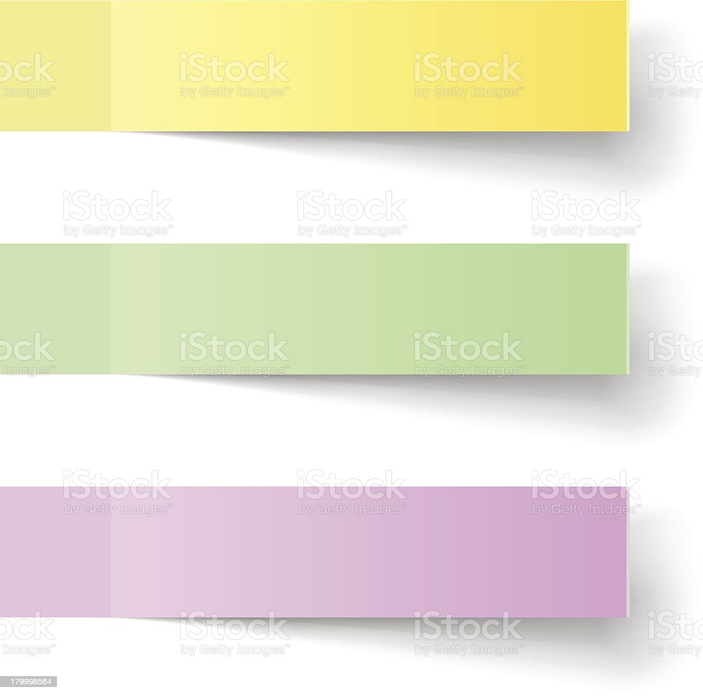 Color sticky notes vector art illustration