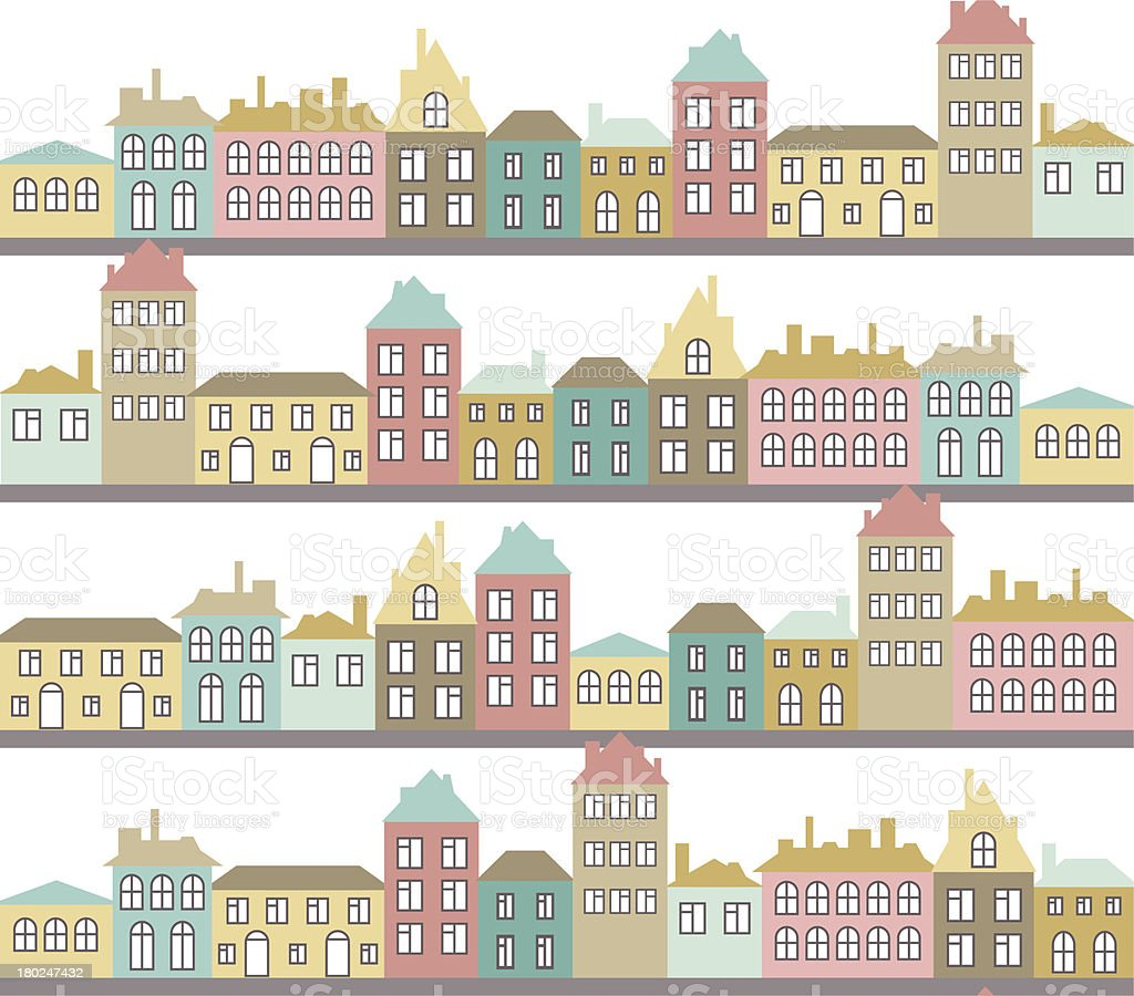 color streets pattern royalty-free stock vector art