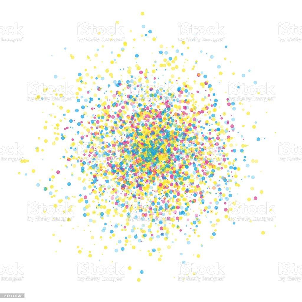 Color Supernova Star Cluster Circle Pattern vector art illustration