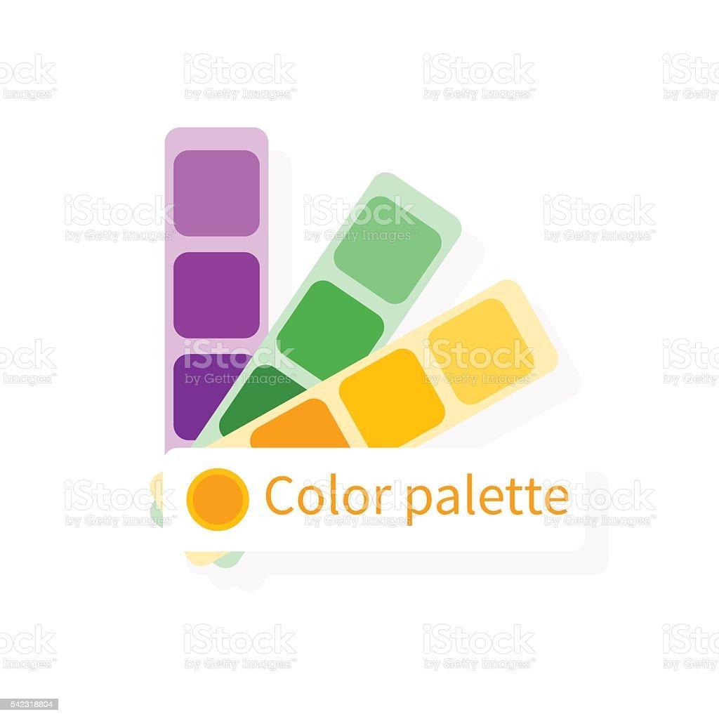 Color swatch, color guide. Vector colorful icon, flat design. Ca vector art illustration