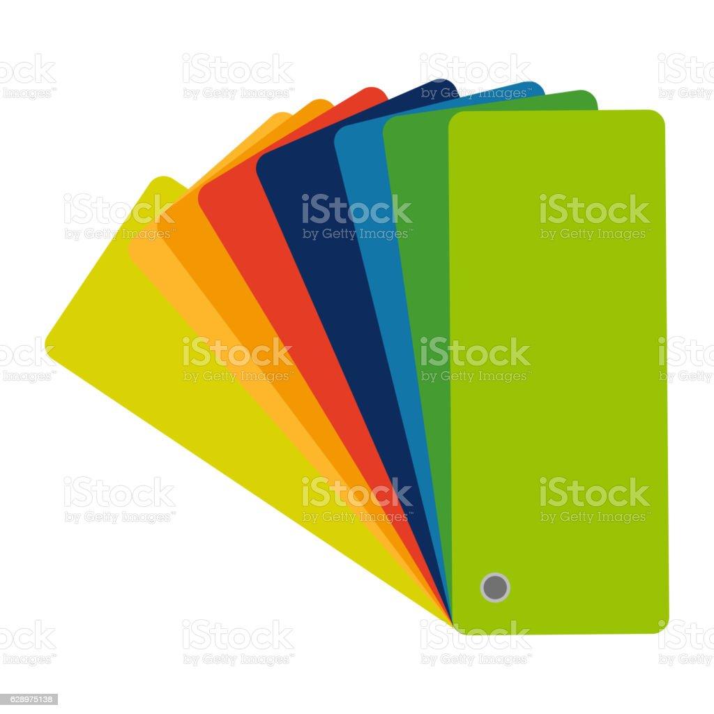 Color swatch, guide. Vector colorful icon, flat design. Catalog, palette vector art illustration