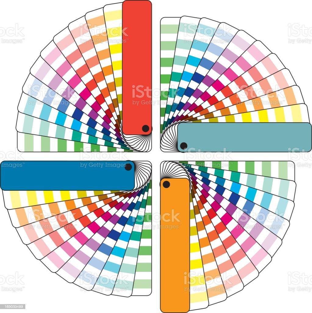Color Swatchbooks vector art illustration