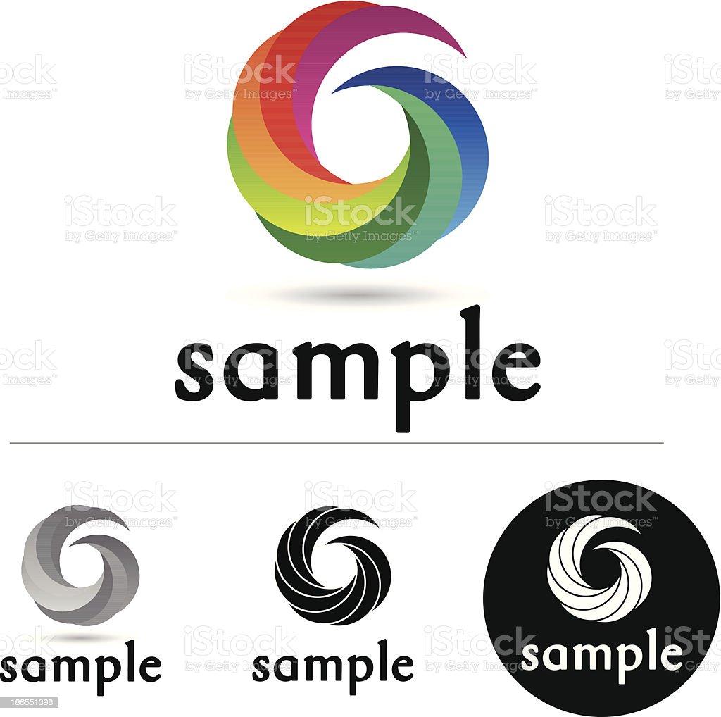 Color swirl royalty-free stock vector art