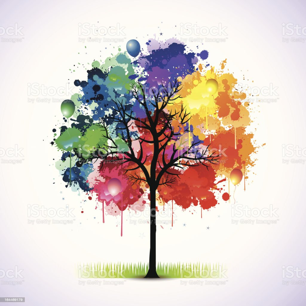 Color tree royalty-free stock vector art