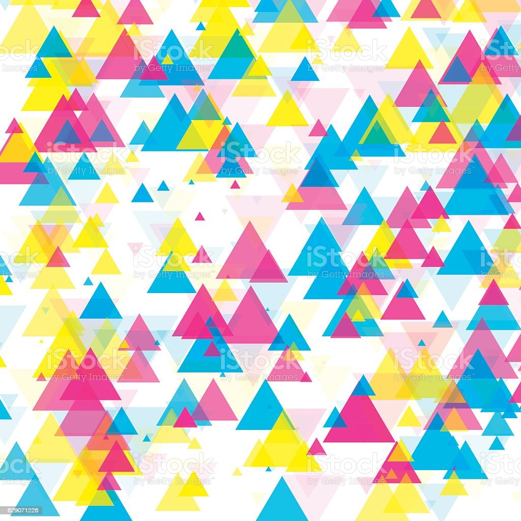 Color Triangle Geometric Graphic Pattern vector art illustration