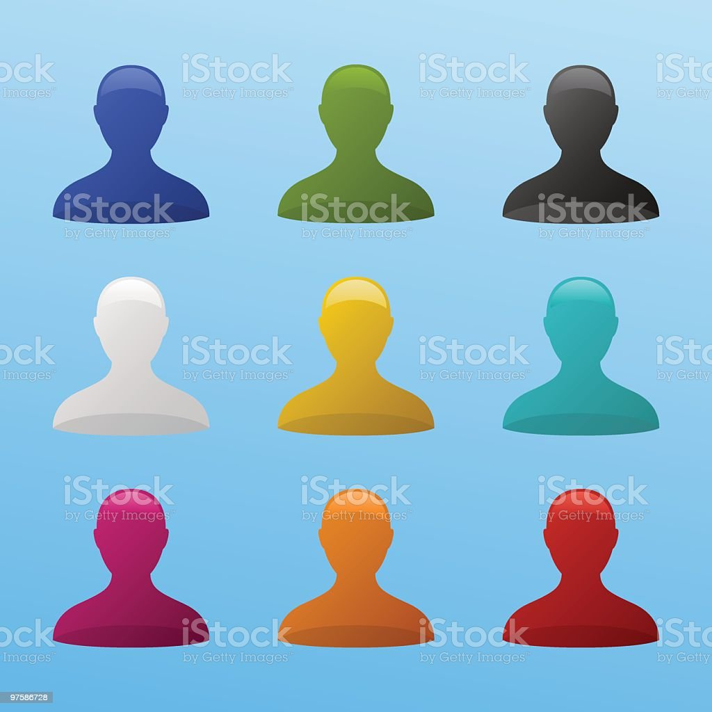 Color User Icons royalty-free stock vector art