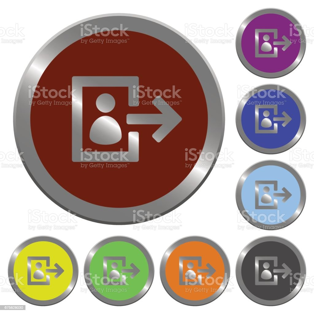Color user iconut buttons vector art illustration