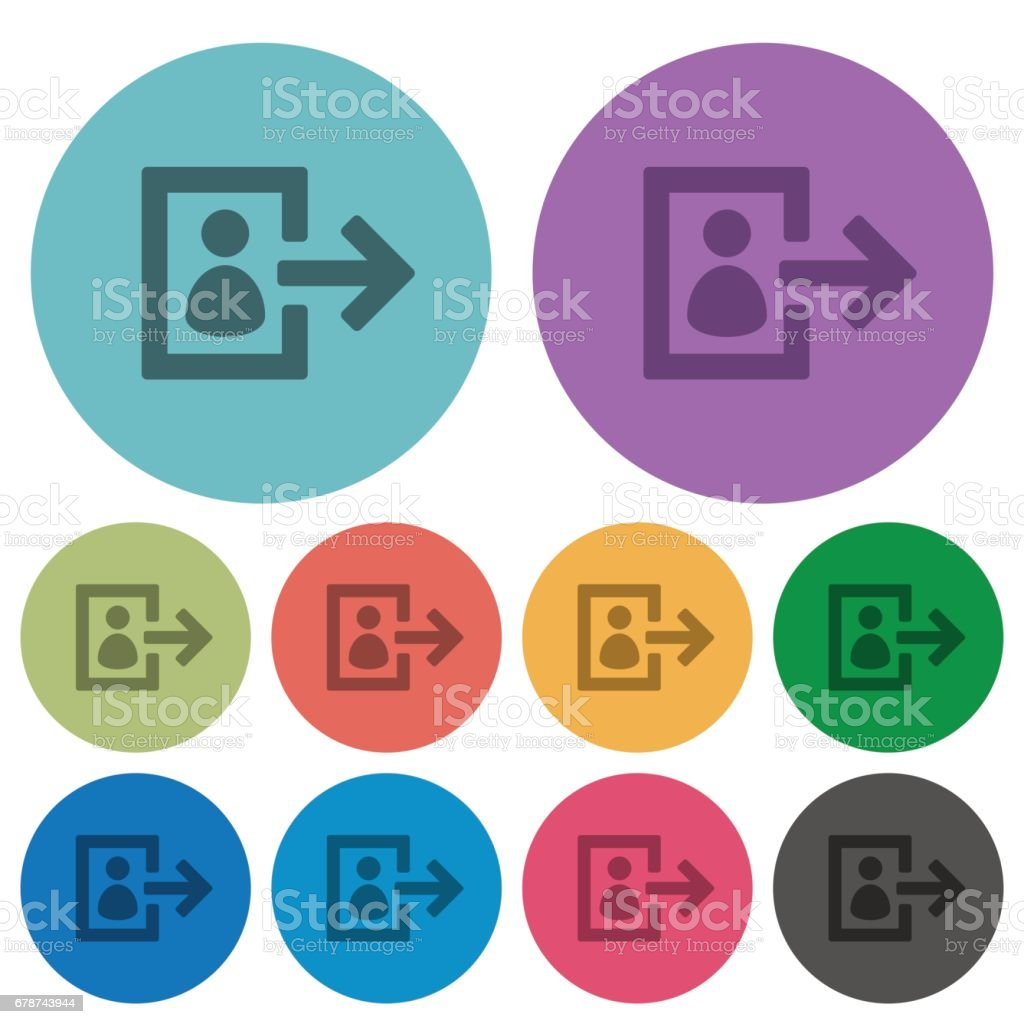 Color user logout flat icons vector art illustration