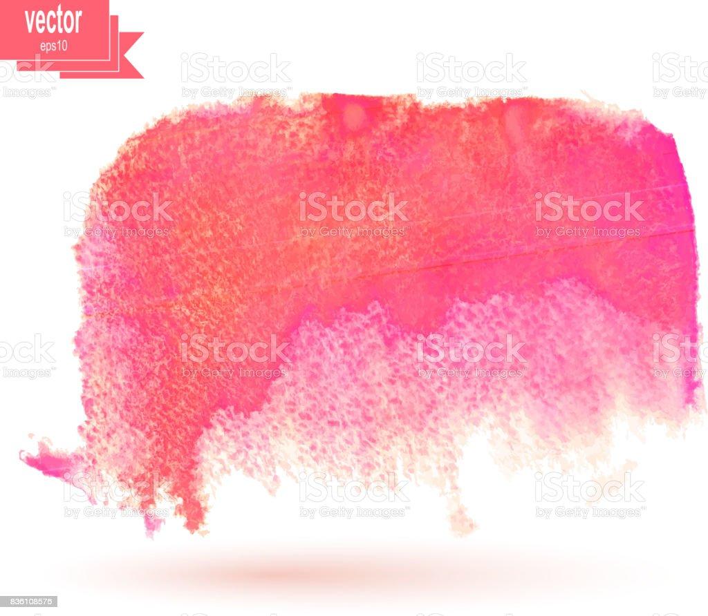 Color watercolor blotch. Vector illustration. Watercolor red design element. vector art illustration