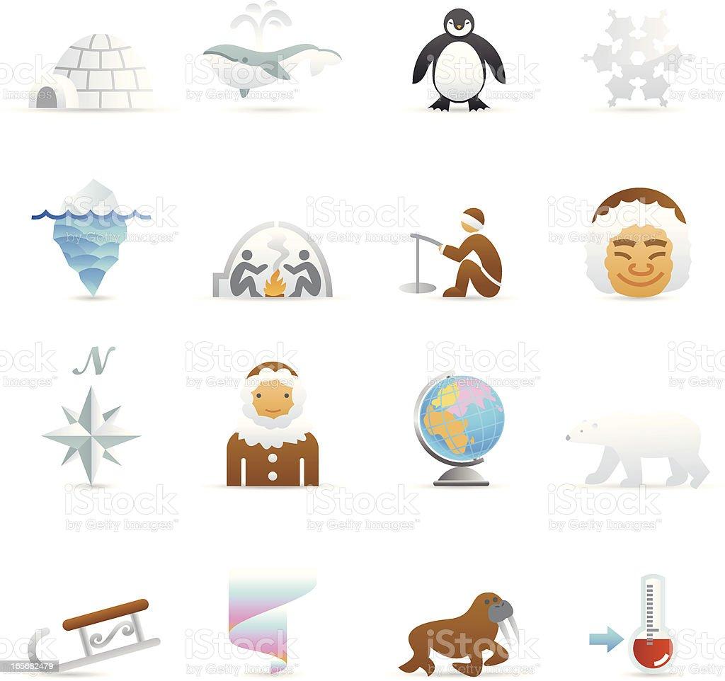 Color Web Icons - Arctic vector art illustration
