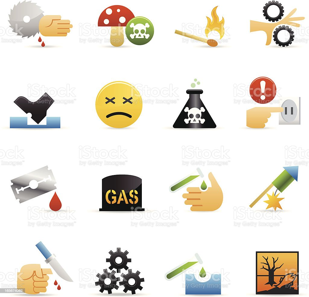 Color Web Icons - Caution royalty-free stock vector art