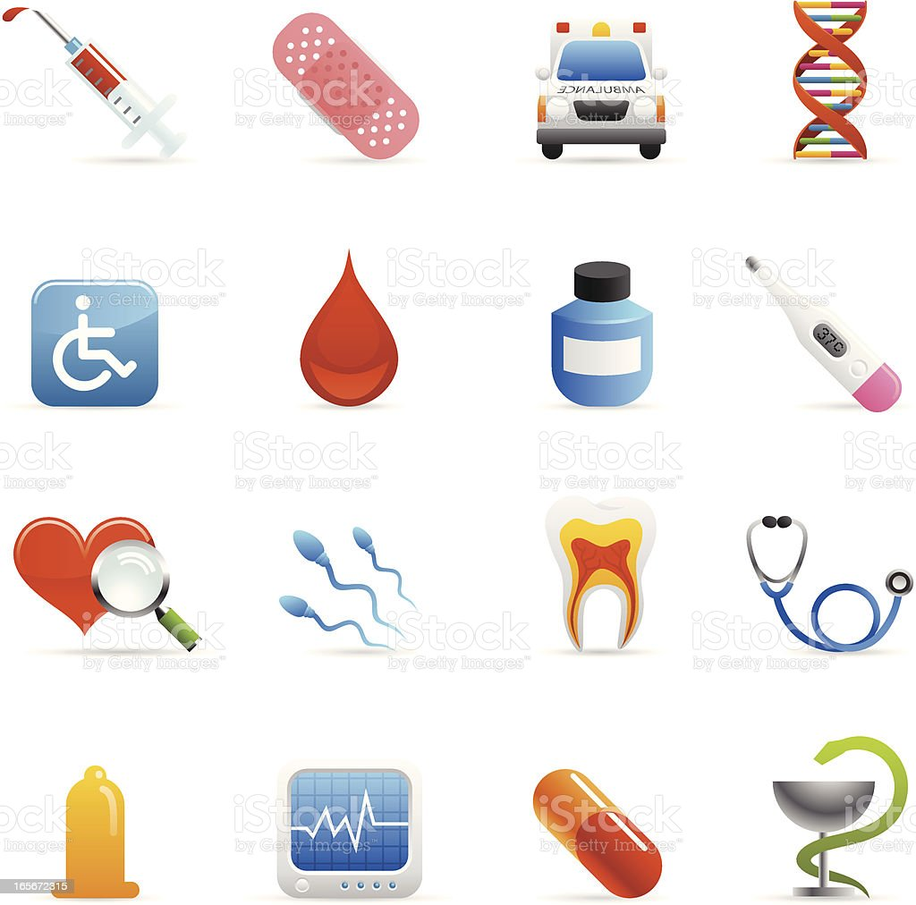 Color Web Icons - Medical royalty-free stock vector art