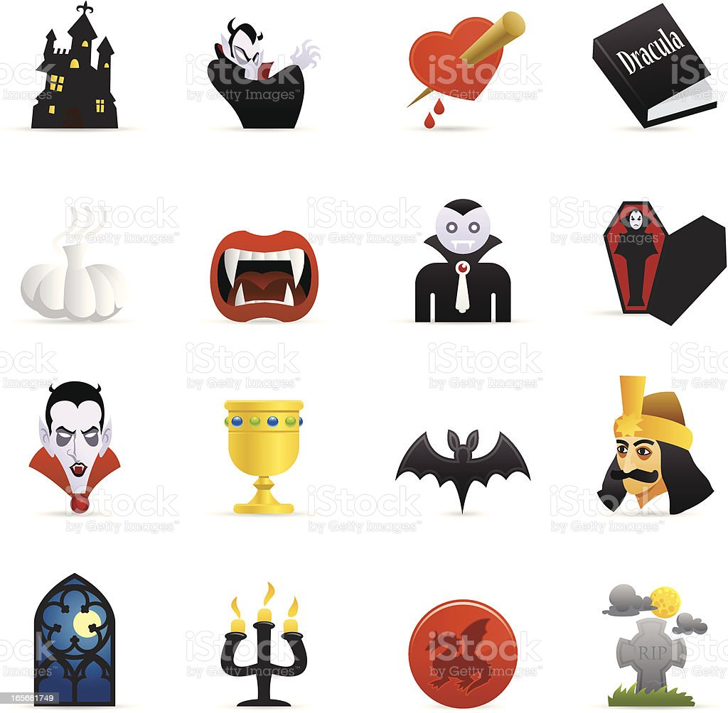Color Web Icons - Vampire royalty-free stock vector art