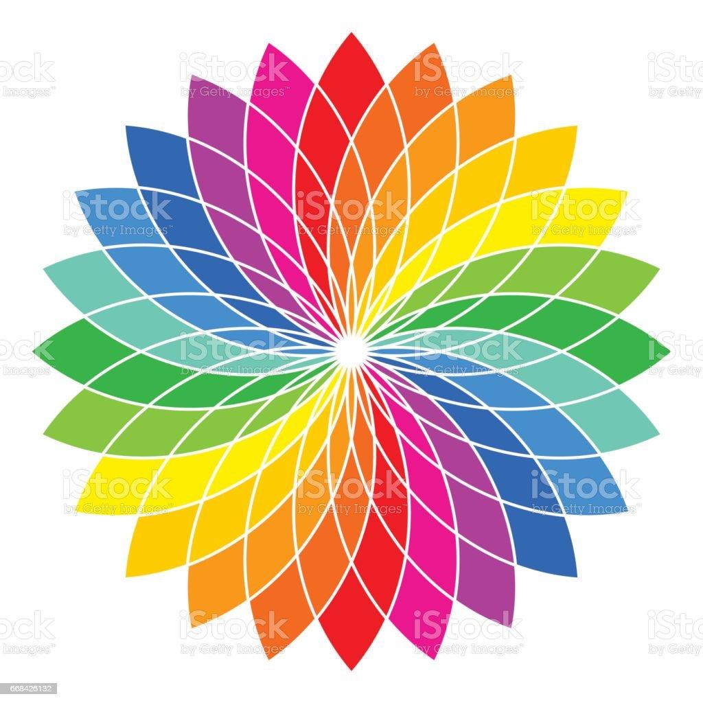 Color wheel - flower - illustration vector art illustration
