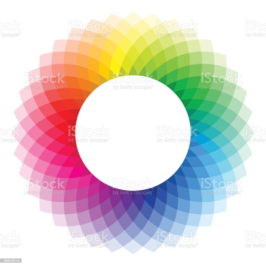 Color wheel - illustration vector art illustration