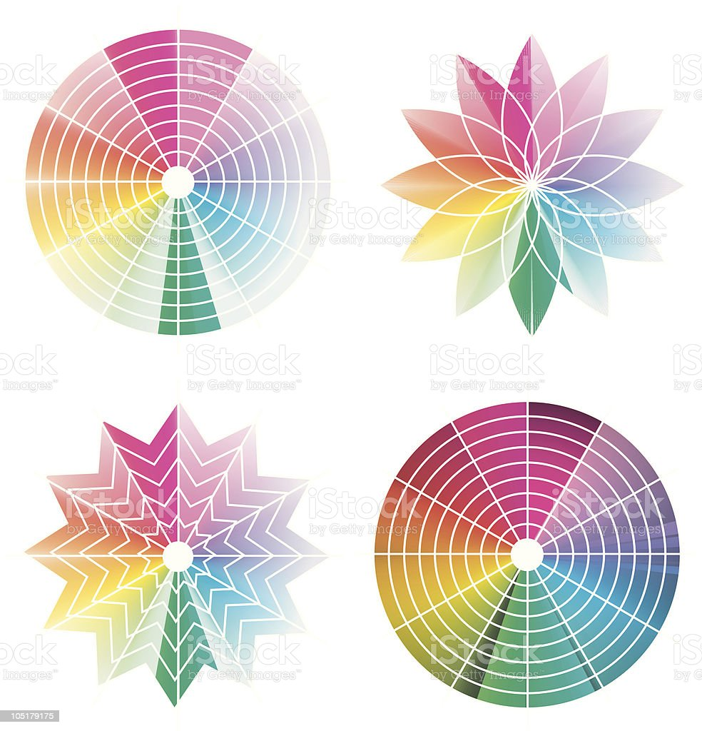 Color wheel royalty-free stock vector art