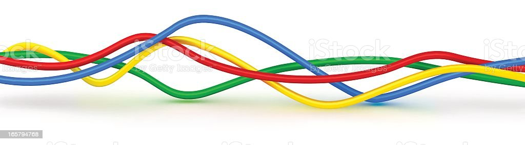Color wires vector art illustration