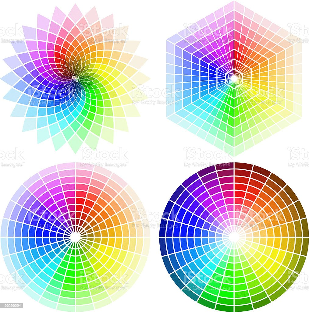 color_wheel_set royalty-free stock vector art
