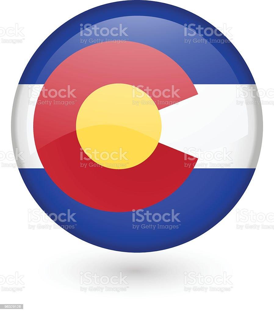 Colorado flag button royalty-free stock vector art