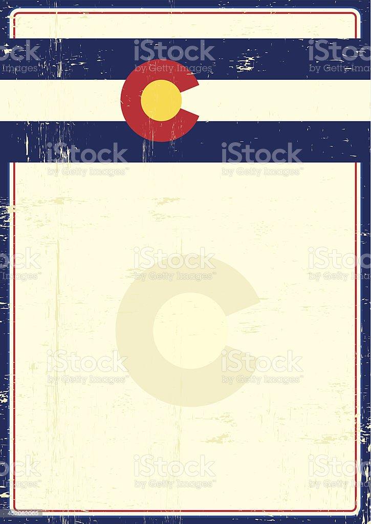 Colorado grunge poster royalty-free stock vector art