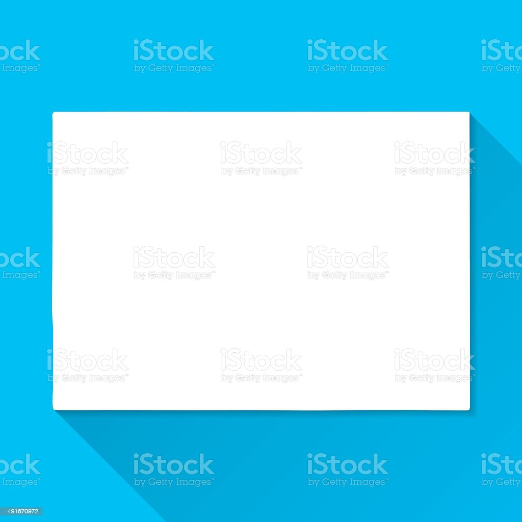 Colorado Map on Blue Background, Long Shadow, Flat Design vector art illustration