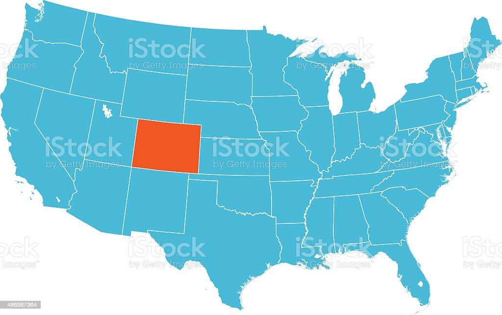 Colorado Map vector art illustration