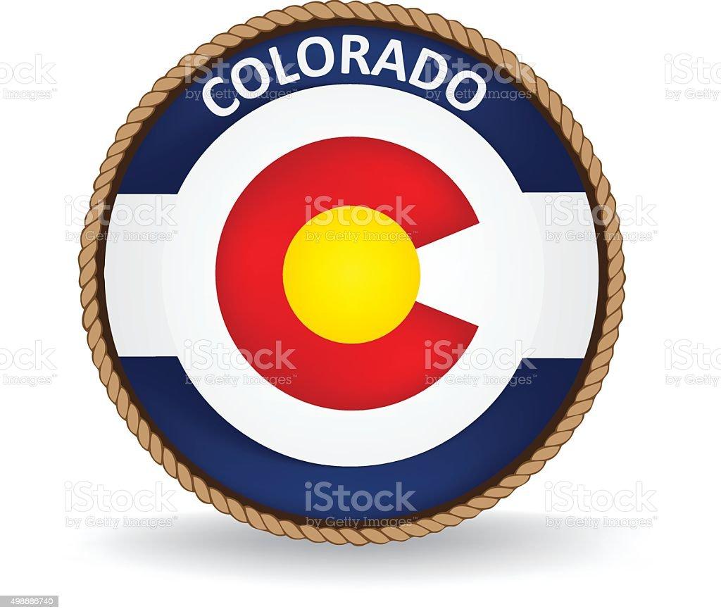 Colorado Seal vector art illustration