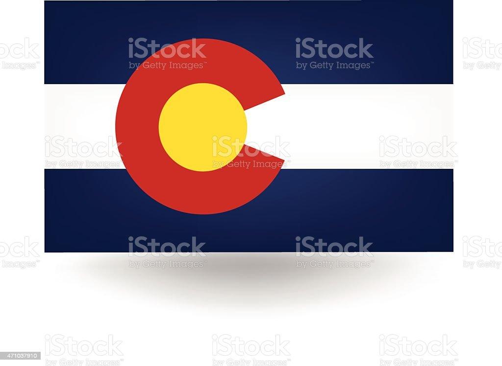 Colorado State Flag vector art illustration