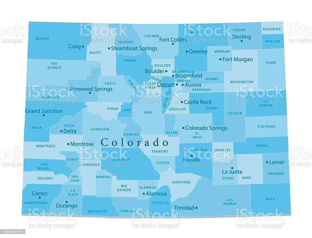 Colorado Vector Map Isolated vector art illustration
