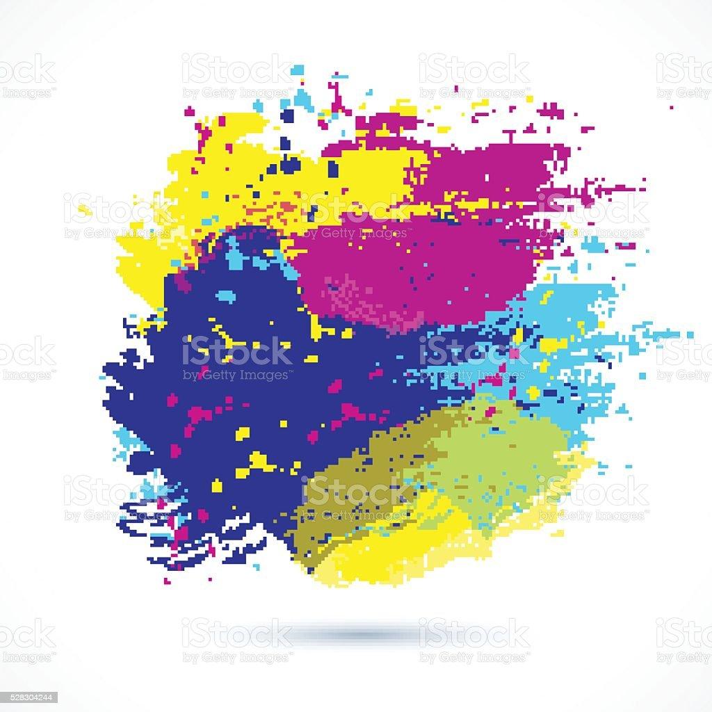 Color-creative-brushes vector art illustration