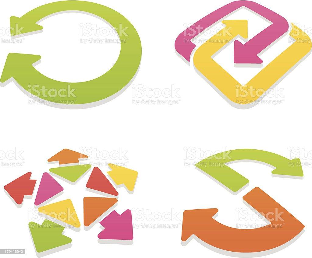 colored arrow sign set II royalty-free stock vector art