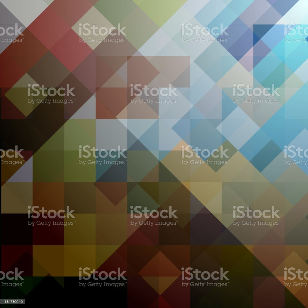 colored background of squares royalty-free stock vector art