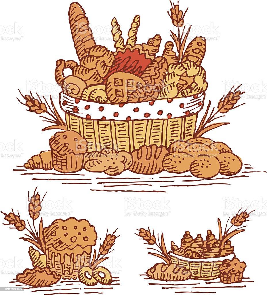 Colored Baking Still Life royalty-free stock vector art